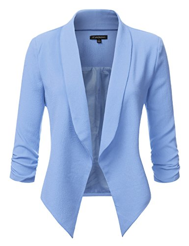 light blue blazer - 3