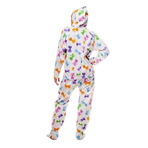 0f1a47971 Pijama entero con pies para adultos Happy Cats Kajamaz  Pijama entero con pies  para adultos