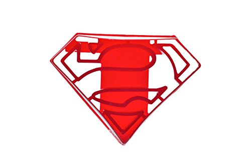 SUPERHERO COOKIE CUTTER SUPERMAN plastic mold for baking shortbread and biscuit dough pastry stamp cupcake Topper Fondant Cutter