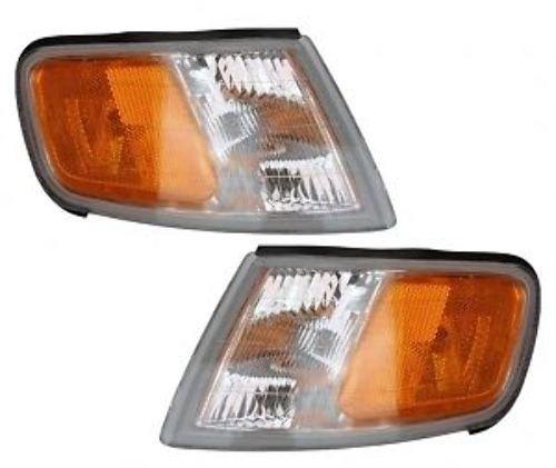 1994-1995-1996-1997 Honda Accord Corner Park Light Turn Signal Marker Lamp Pair Set Right Passenger And Left Driver Side (94 95 96 97)