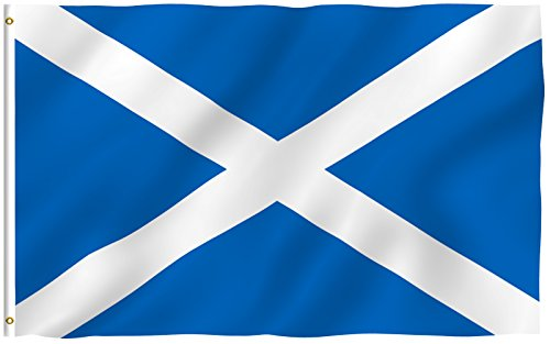 ANLEY [Fly Breeze] 3x5 Foot Scotland Flag - Vivid Color and UV Fade Resistant - Canvas Header and Double Stitched - Scottish Flags Polyester with Brass Grommets 3 X 5 Ft Edinburgh 3 Light