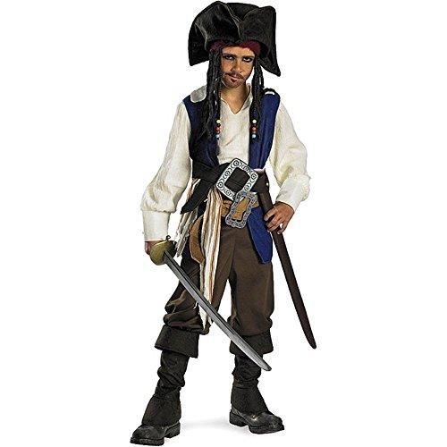 Pirates Caribbean Captain Sparrow Costume
