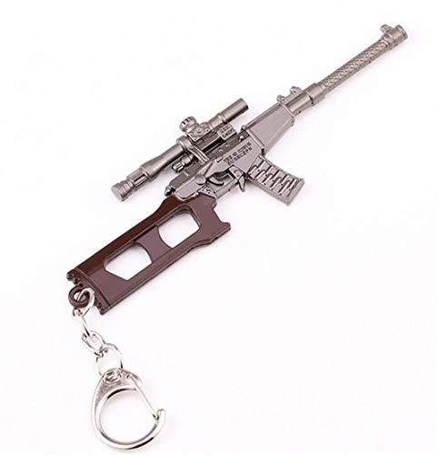 Heyuni.Mini Metal Sniper Rifle Model Keychain Pendant Key Ring Accessories Souvenir for Boyfriend Gift,VSS