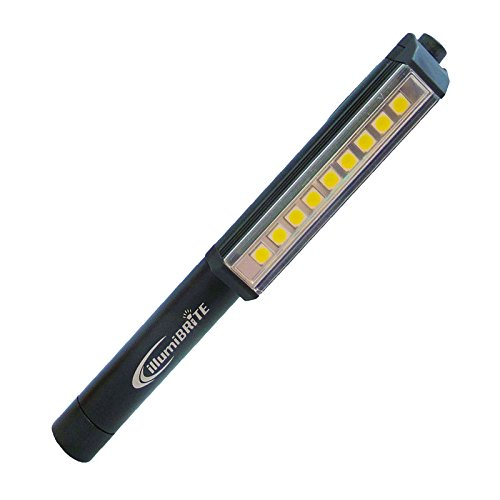 Promier 220 Lumen Metal COB LED Pocket Pen Light with (2 Magnets -1 Clip/1 Base) (100% Manufacture Replacement Guarantee) (Black)