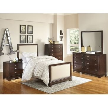 Amazon Benclaire French Country Twin 5 Piece Bedroom Set with
