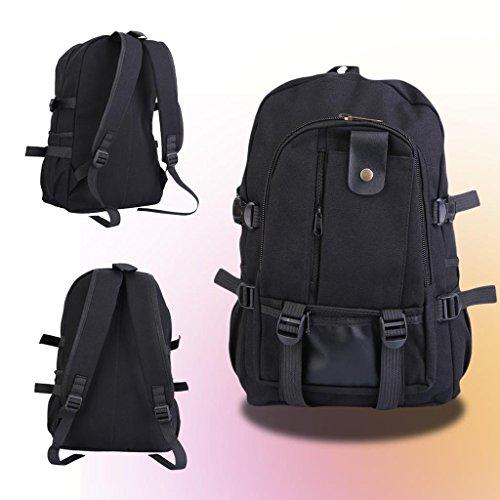 mens-women-canvas-backpack-rucksack-laptop-shoulder-travel-hiking-camping-bag-black