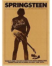 Poster Bruce Springsteen Rock Poster punk Muziek Ster Vintage Posters en Prints Canvas Schilderij Home Decor 50 * 70 cm Geen Frame