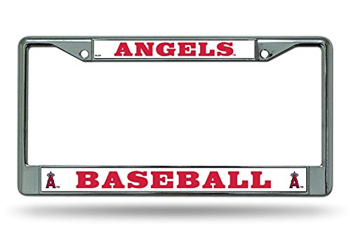 (Los Angeles Angels BOLD Des Metal Chrome License Plate Tag Frame Cover Baseball )