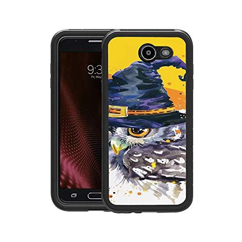 FIDIKO Popular Halloween Witch Owl Pattern Protective Case Compatible Galaxy j7, Tough Anti Dust Elegant Design Hard Case Compatible Samsung Galaxy j7 -