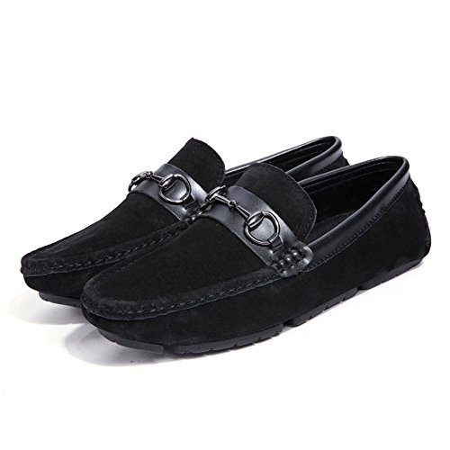 in guida Casual Men's Flat Mocassini morbida antiscivolo da fondo EU da con Royalblue fondo Scarpe Color Slip Nero Flat pelle Dimensione Ofgcfbvxd 38 Mocassini On qYwXqU