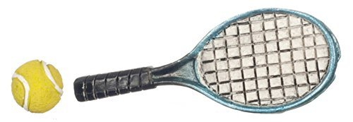 Dollhouse Miniature Tennis Racket & Ball by Falcon Miniatures