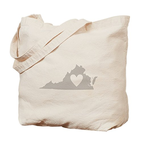 CafePress - Heart Virginia - Natural Canvas Tote Bag, Cloth Shopping Bag
