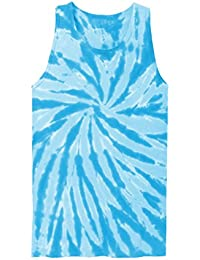 Unisex Emoticon Tie Dye Sleeveless Tank Top Up to Plus Size