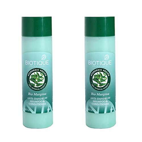Price comparison product image 2 x Biotique Bio Margosa Anti-Dandruff Shampoo & Conditioner - 190 ml (Pack of 2)