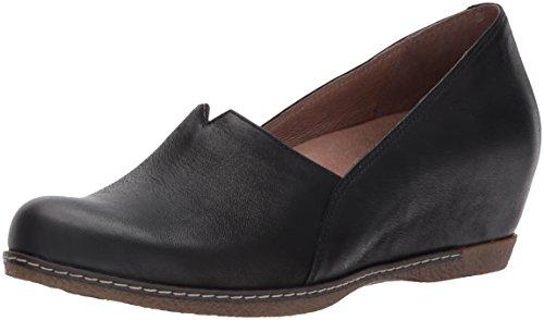 Dansko Women's Liliana Loafer Flat, Black Burnished Nubuck, 37 M EU (6.5-7 US)