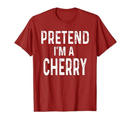 Cherry Dress Up Lazy Halloween Costume Shirt Fruit Lover Tee