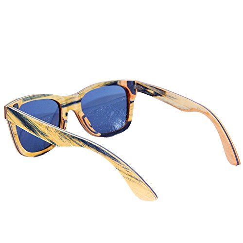 Sol Lente Retro los conducción Gafas Hechas de Aclth Gafas de de Tiras de Personalidad de Sol de UV Sol Protección Hombres de TAC Gafas a de Madera polarizadas Playa Gafa de Gafas Sol Mano 78daqdx