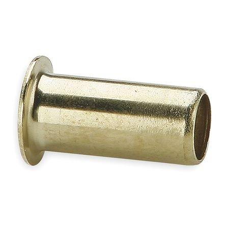 Insert, Brass, Comp, 1/8In, PK10
