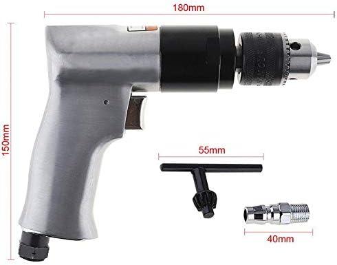Noblik Perceuse Pneumatique de Type Pistolet Sans Fil /à Grande Vitesse 1800 Rpm 3//8 Pouce Outils de Forage /à Air R/éversibles Pour Le Forage de Trous