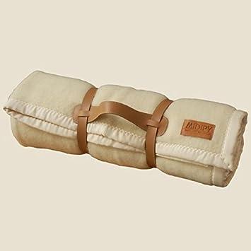 a7e430a83f29 Midipy galon couverture 100% laine ivoire et orange 180x240  Amazon ...