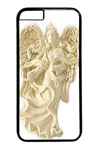 Case For Iphone 6 Plus 5.5 Inch Cover and Cover -Angel of Tenderness Blessing Angel Ornament PC Hard Plastic Case For Iphone 6 Plus 5.5 Inch Cover inch Black