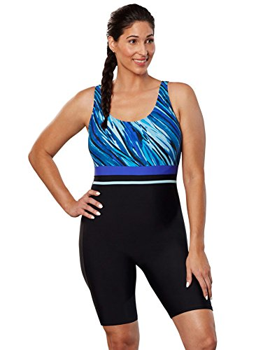 Aquabelle Women's Plus Size Chlorine ResistantXtra Life Lycra Aquatard 18 Multi