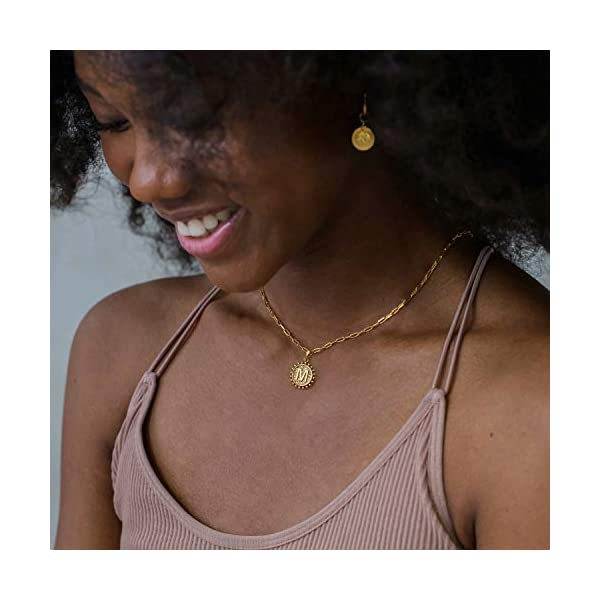 Yoosteel Gold Initial Necklaces