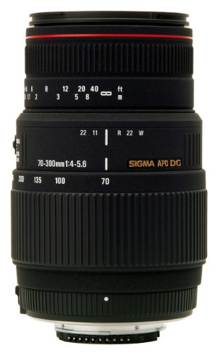 Sigma 70 300mm F/4 5.6 DG APO Macro Telephoto Zoom Lens for Nikon DSLR Camera