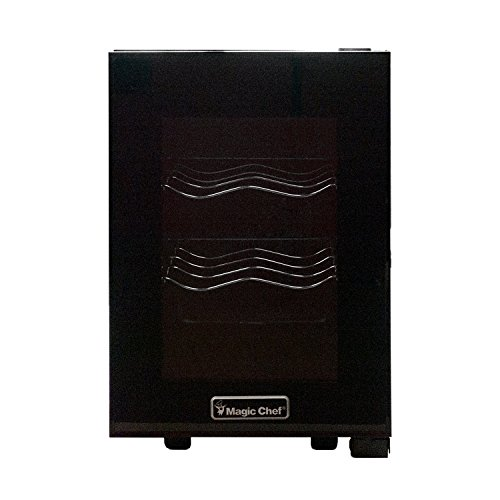 Magic Chef MCWC6B 6 Bottle Countertop Wine Cooler, Black by Magic Chef (Image #2)