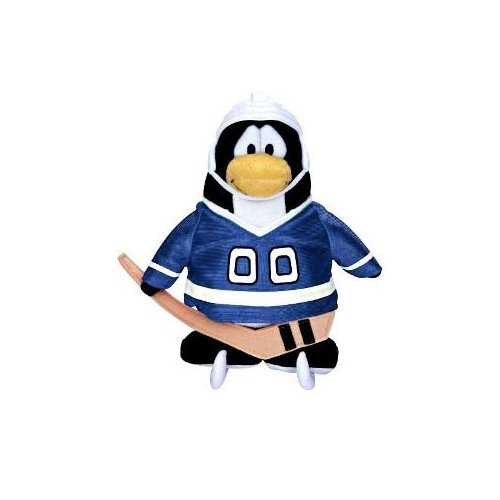 Disneys Club Penguin Series 11 Blue Hockey Player with Online Unlock Code 6 inch ()