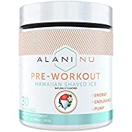 Alani Nu Pre Workout Energy Powder for Men & Women, Pre-Workout Supplement w/30 Servings, 10.37 OZ, 294 G… (Hawaiian Shaved Ice)