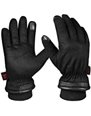 OZERO Mens Winter Gloves,-30 ℉ Waterproof Driving Glove Thermal Gift in Cold Weather