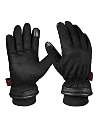 Winter Gloves for Men, Waterproof Thermal Glove Hands Warm in Cold Weather