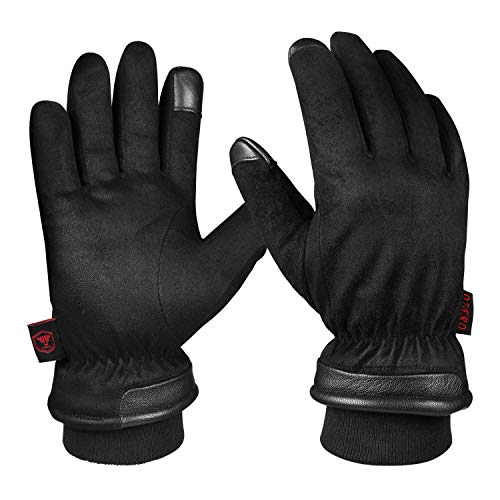 Touch Screen Gloves for Men, Waterproof Winter Glove Warm Gift in Cold Weather