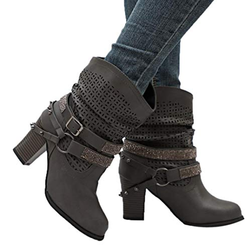 Hemlock Women High Heels Boots Plus Snow Calf Boots Wedge Heel Ankle...