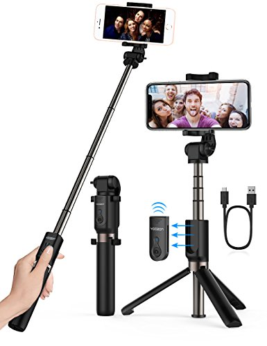 Cheap Monopod Heads Yoozon Selfie Stick Bluetooth, Extendable Selfie Stick with Wireless Remote and Tripod..