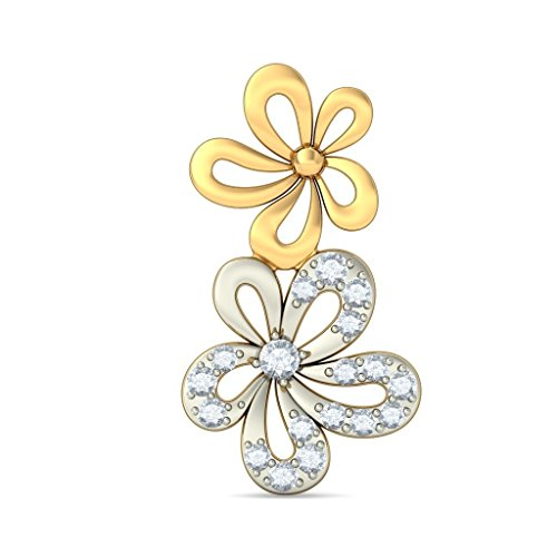 14 K Or jaune 0,15 CT TW White-diamond (IJ | SI) Boucles d'oreille à tige