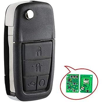 Remote Control Key Fob Case Push 5 Button Pad Tail For Pontiac G8 08-09