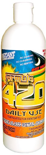 Instructions 420 Bling Daily Use Concentrated 16oz. Makes 32oz. Glass, Pyrex, Metal and Ceramic Cleaner
