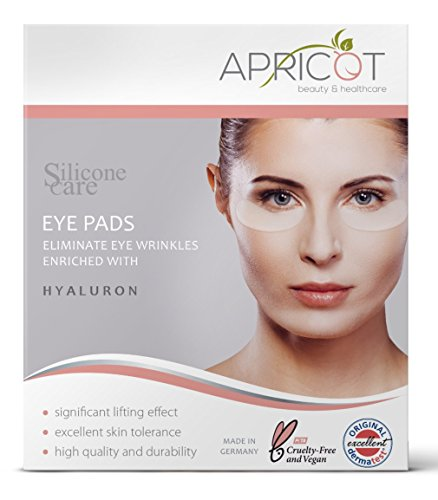 Apricot Eye Care (NEW! Silicone care Eye Pads enriched with highly effective Hyaluron! Reusable Siliconepads, original APRICOT product made in Germany! clinically proven efficacy! Softens eye wrinkles!)