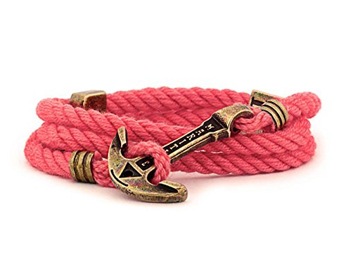Sea Coral Bracelet - Anchor Bracelet Women/Coral Bracelet/Nautical Bracelet/Wrap Bracelet/Sea Bracelet/Rope Bracelet/Adjustable Size/Marine Bracelet Anchor/Bracelet Women