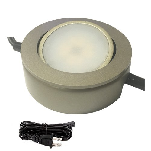 Amazon dimmable led puck light 120v under cabinet lighting amazon dimmable led puck light 120v under cabinet lighting 3 puck light kit black home kitchen mozeypictures Image collections