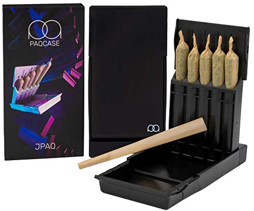 JPAQ Ultra-Sleek Joint Holder w/ Gasket Seal and Roach Coach, Strong and Sturdy Blunt Holder, Doob Tube, and Cigarette Case, Holds 5 King Size Prerolls, Portable, Compact, Convenient Weed Accessories