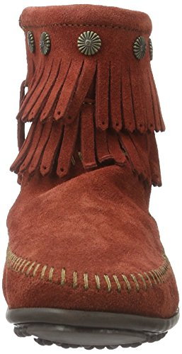 Minnetonka Hi Top Back Zip Boot 691T - Botas de ante para mujer marron oscuro