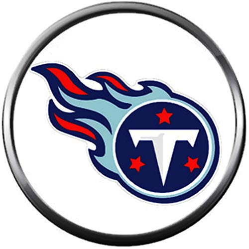 NFL Tennessee Titans Logo On White Sports Fan Football Lovers Team Spirit 18MM - 20MM Fashion Jewelry Snap Charm - Nfl White Charms