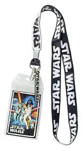 - Star Wars ID Lanyard with Clear Badge Holder and Rubber Logo