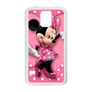Samsung Galaxy S5 Cell Phone Case White Mickey and Minnie K2769091