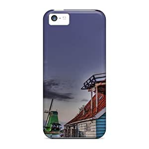 New Arrival Colorful Windmills Along A River Hdr For Iphone 5c Case Cover by lolosakes