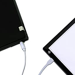 Huion L4S Light Box - 17.72 Inches USB ADJUSTABLE Illumination Light Panel only 5mm Thin Light Table