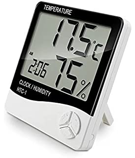 Indoor Digital Humidity Temperature Thermometer Sensor, Hygrometer Meter Gauge with LCD Display for Room Home